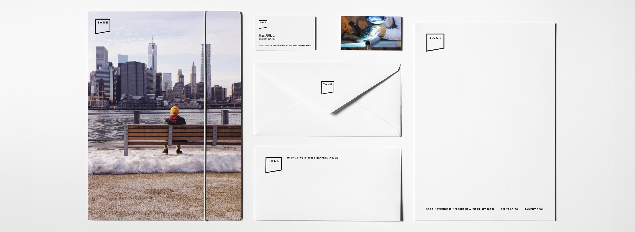 TANE branding and stationery components