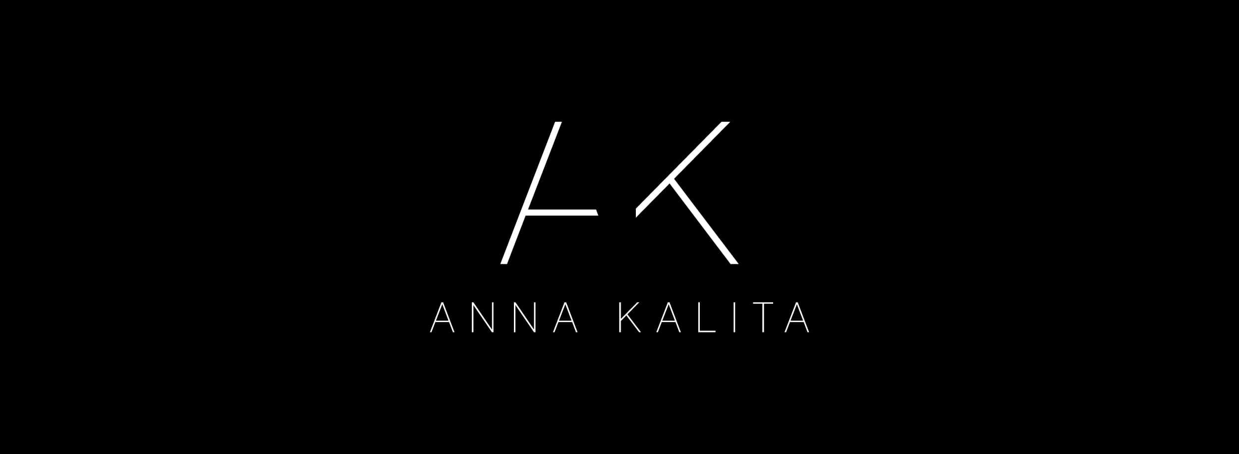 AK logo design: pure minimalist typography. © LET'S PANDA