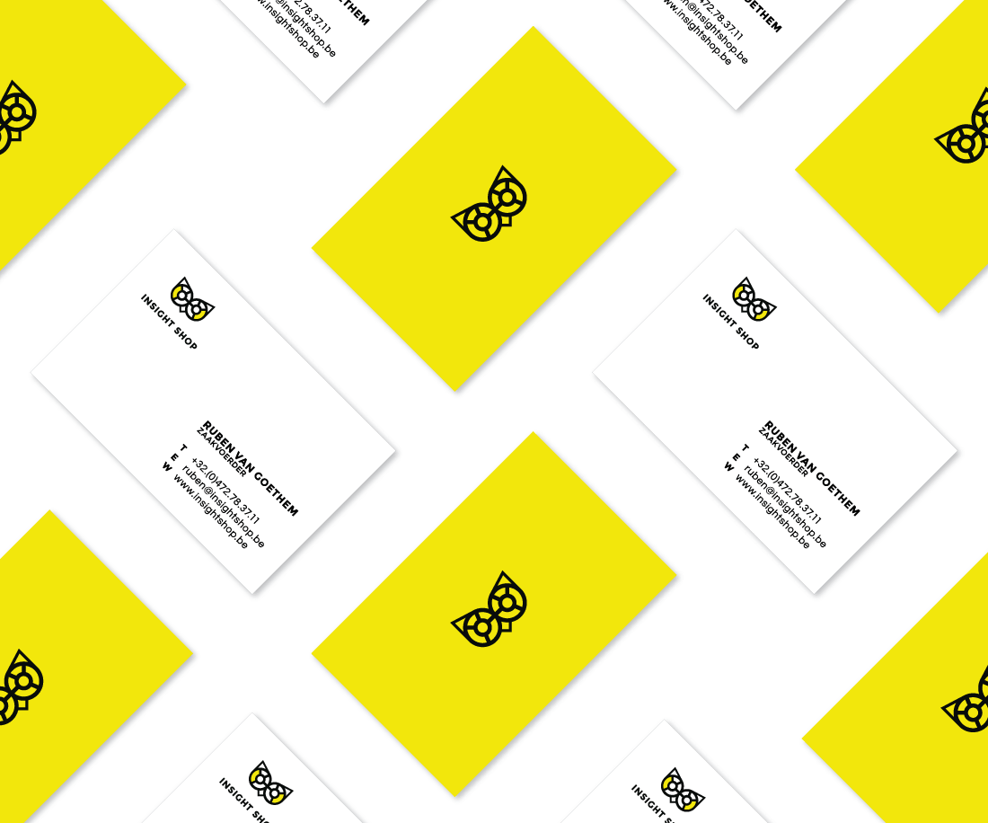 Striking business card design for Insight Shop. © LET'S PANDA