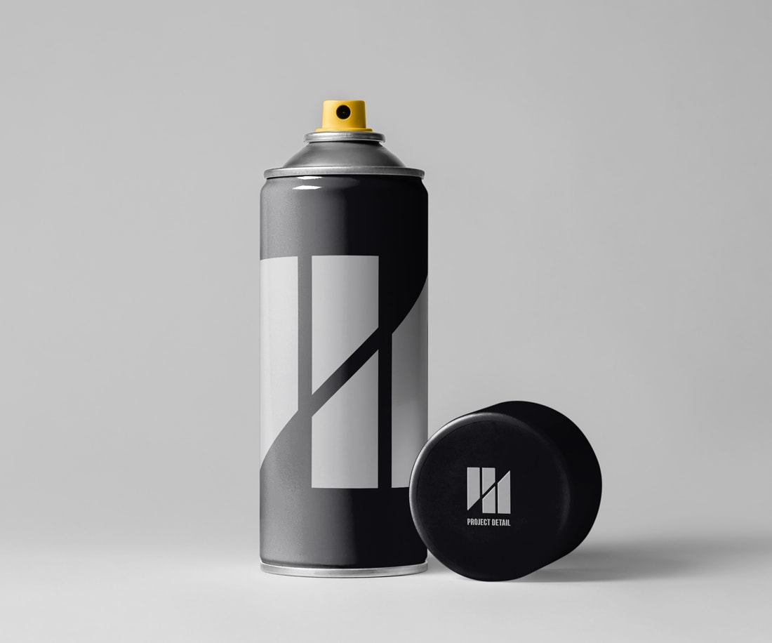 Project Detail – stylish and minimalist spray can