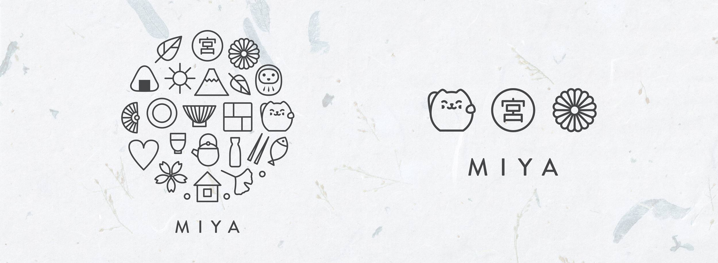 Miya logo: short and full version. © LET'S PANDA