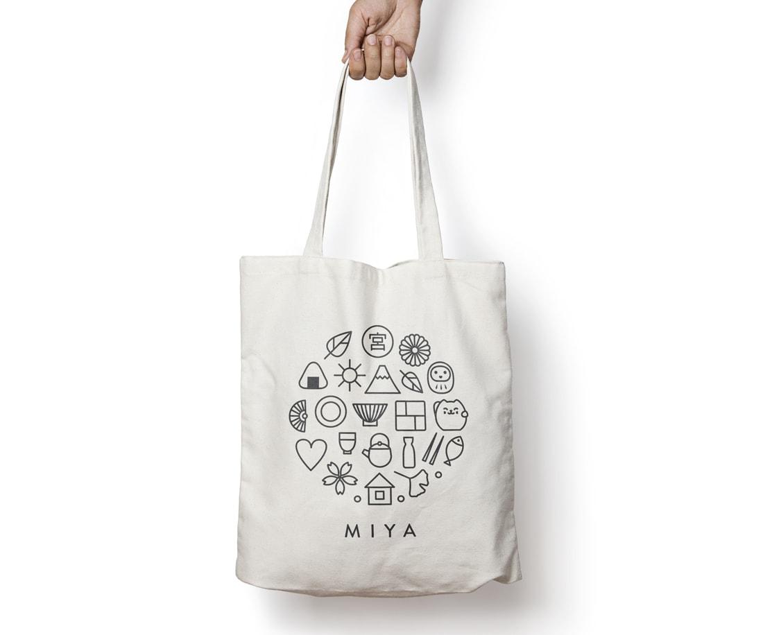 Miya brand bag design. © LET'S PANDA