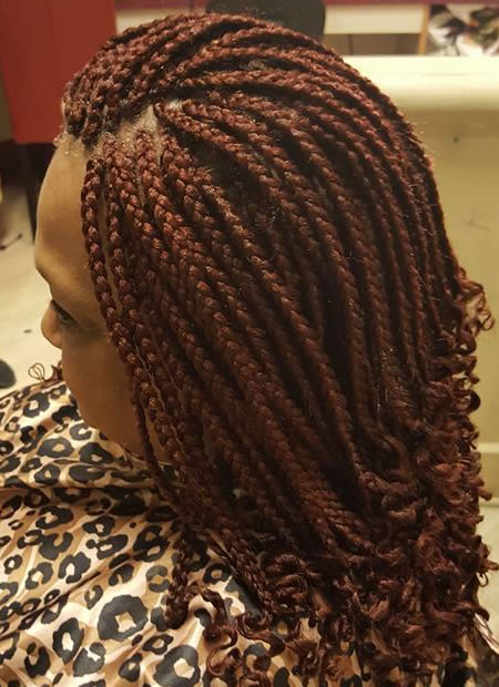 Braidings by Fatu - long copper braids