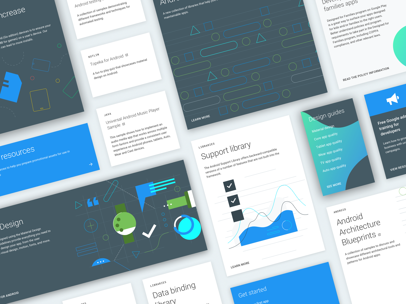 android developers UI cards