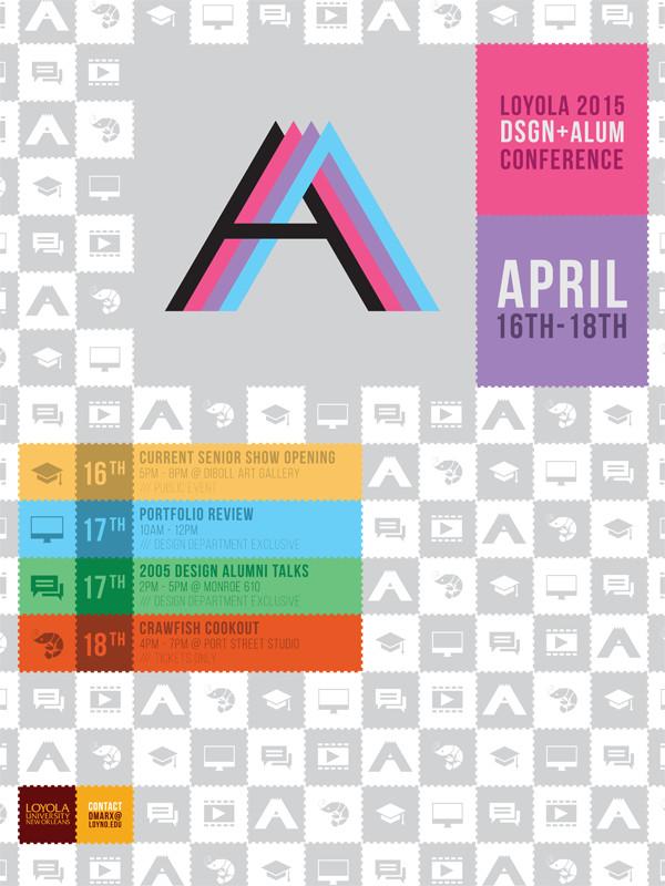 Loyola Design Alumni Conference 2015 Poster