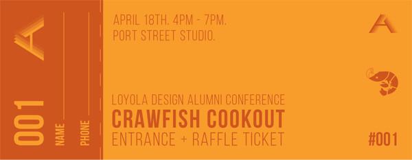 Loyola Design Alumni Conference 2015 Raffle Ticket