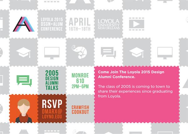 Loyola Design Alumni Conference 2015 Postcard Back