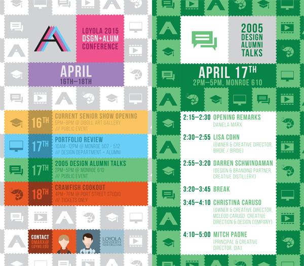 Loyola Design Alumni Conference 2015 Schedule