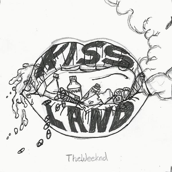 The Weeknd Kiss Land Fan Cover Art Sketch by Devone Paul