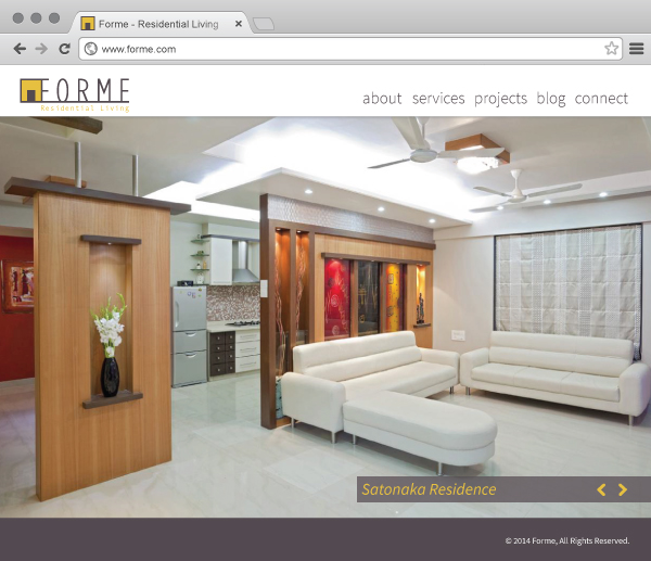 high-end residential interior FORME website home page
