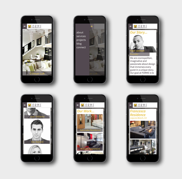 high-end residential interior FORME website mobile