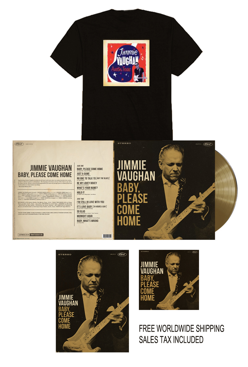 Jimmie Vaughan Limited Edition Gold Vinyl Bundle - Austin Tee