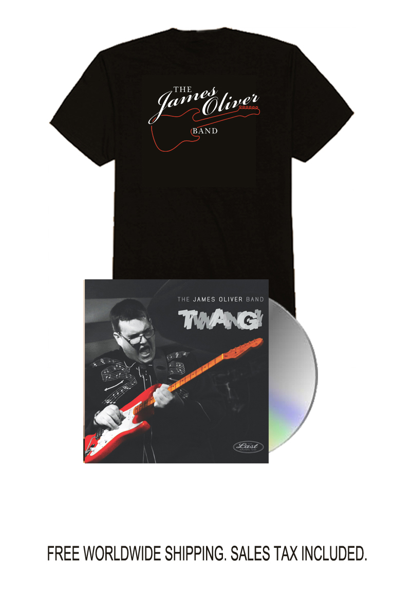 James Oliver Limited Edition Signed CD and Tee Shirt Bundle PRE-ORDER