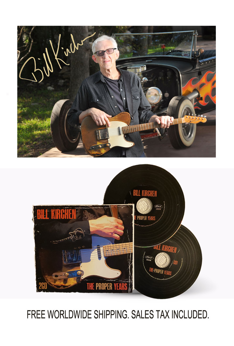 "Bill Kirchen ""The Proper Years"" Limited Edition Signed Photo and  Signed CD Bundle"