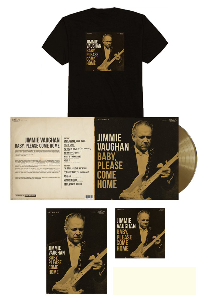 Jimmie Vaughan Limited Edition Gold Vinyl Bundle
