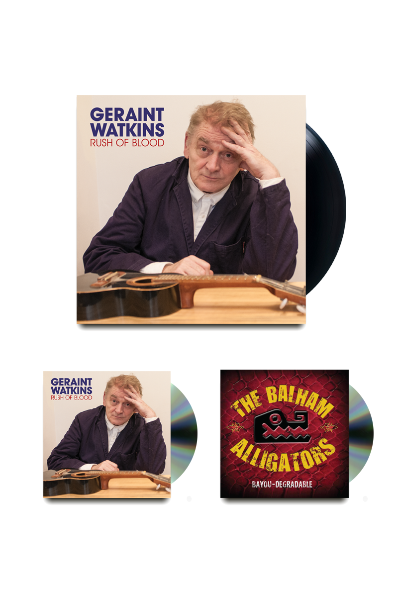 Geraint Watkins Signed VInyl CD Bundle