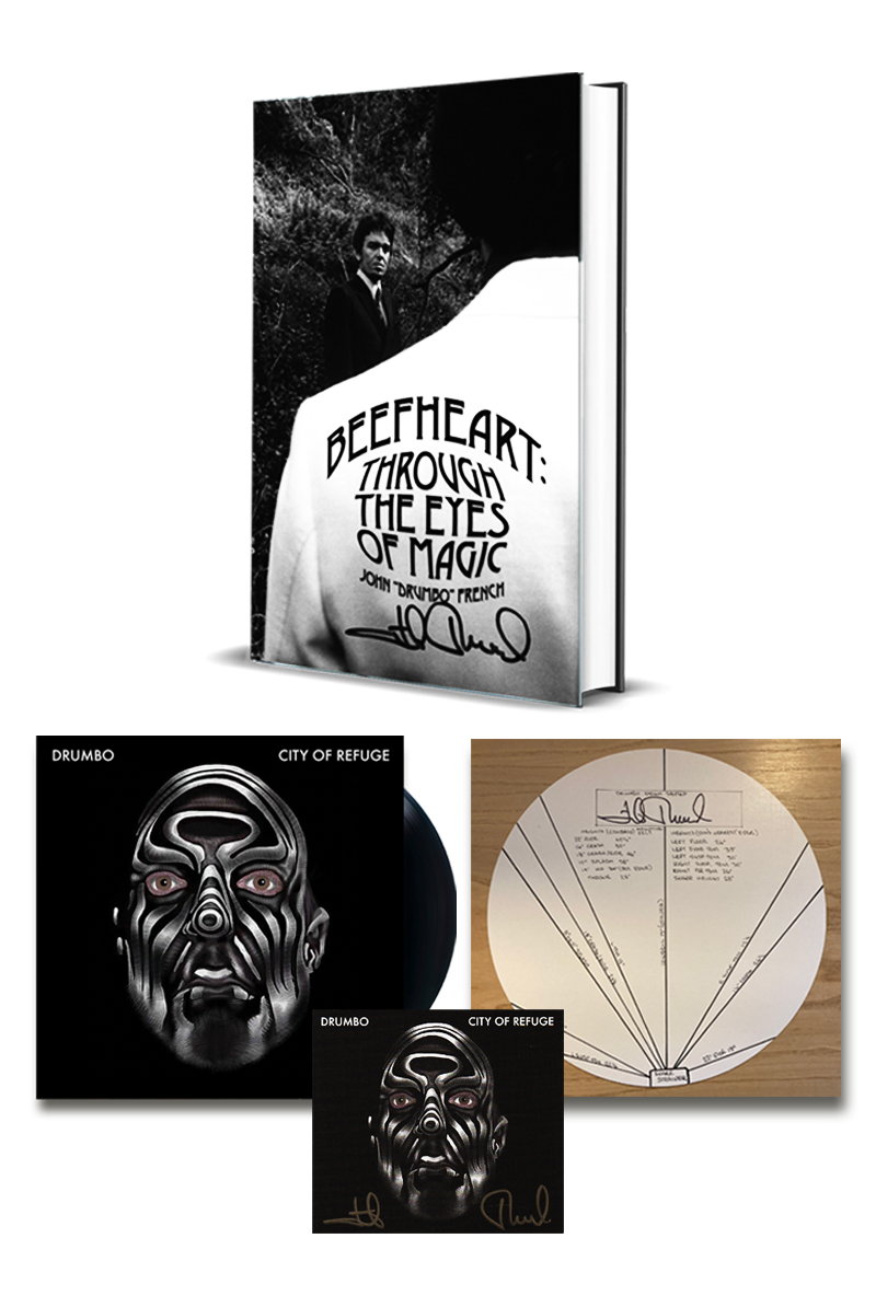 """John French """"Beefheart: Through The Eyes of Magic"""" Signed """"Book and Music Bundle"""