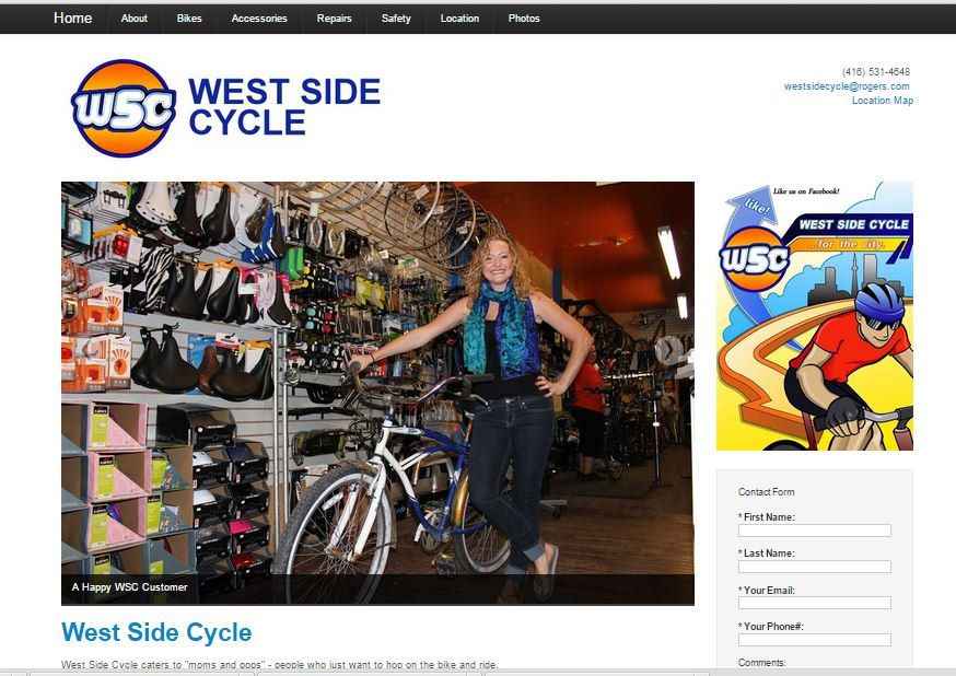 Facetime Presentations re-launched West Side Cycle's website and helped the bike store stand out from the crowd with authentic creative and a mobile friendly website.