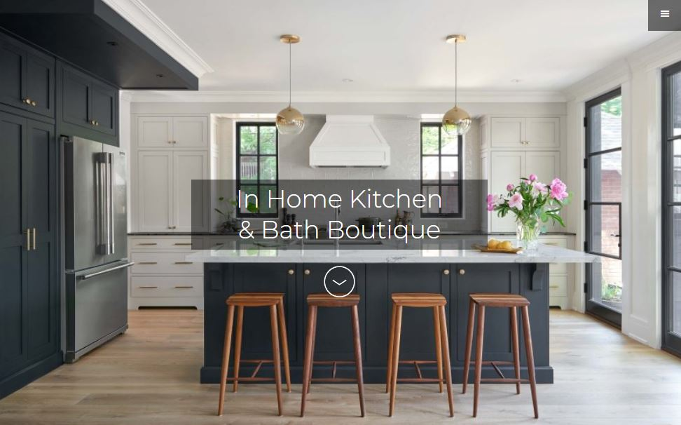 A modern Webflow website that showcases In Home Kitchen & Bath's renovation projects.