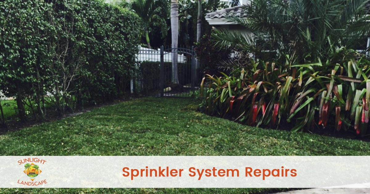 Irrigation System Repairs