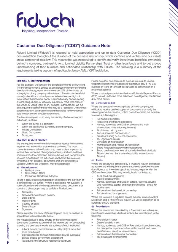 Fiduchi CDD Client Guide