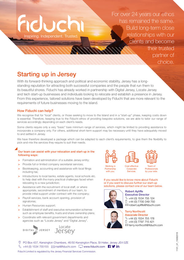 Starting up in Jersey