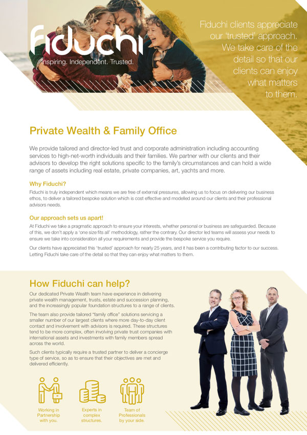 Private Wealth & Family Office Leaflet