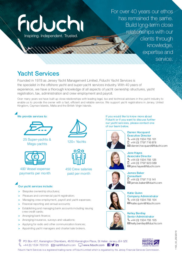 Yacht Services Leaflet