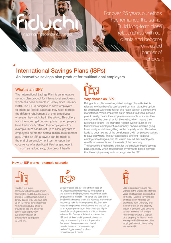 International Savings Plans (ISPs)