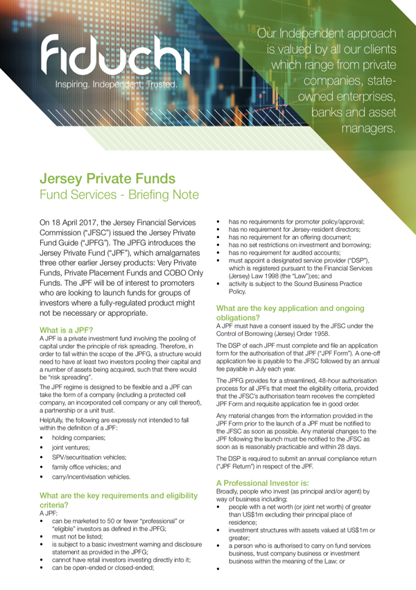 Jersey Private Funds - Fiduchi Briefing Note