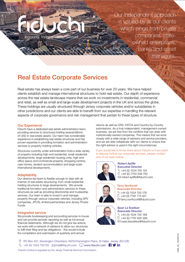 Real Estate Corporate Services