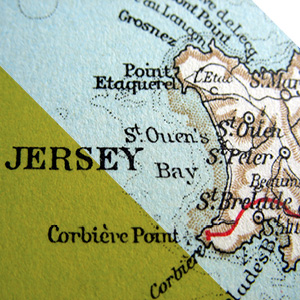 Old Map of Jersey
