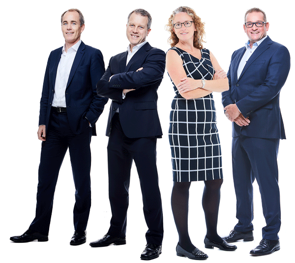 Robert, Philip, Heidi and Sean - Private Wealth team standing