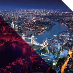 London night time skyline