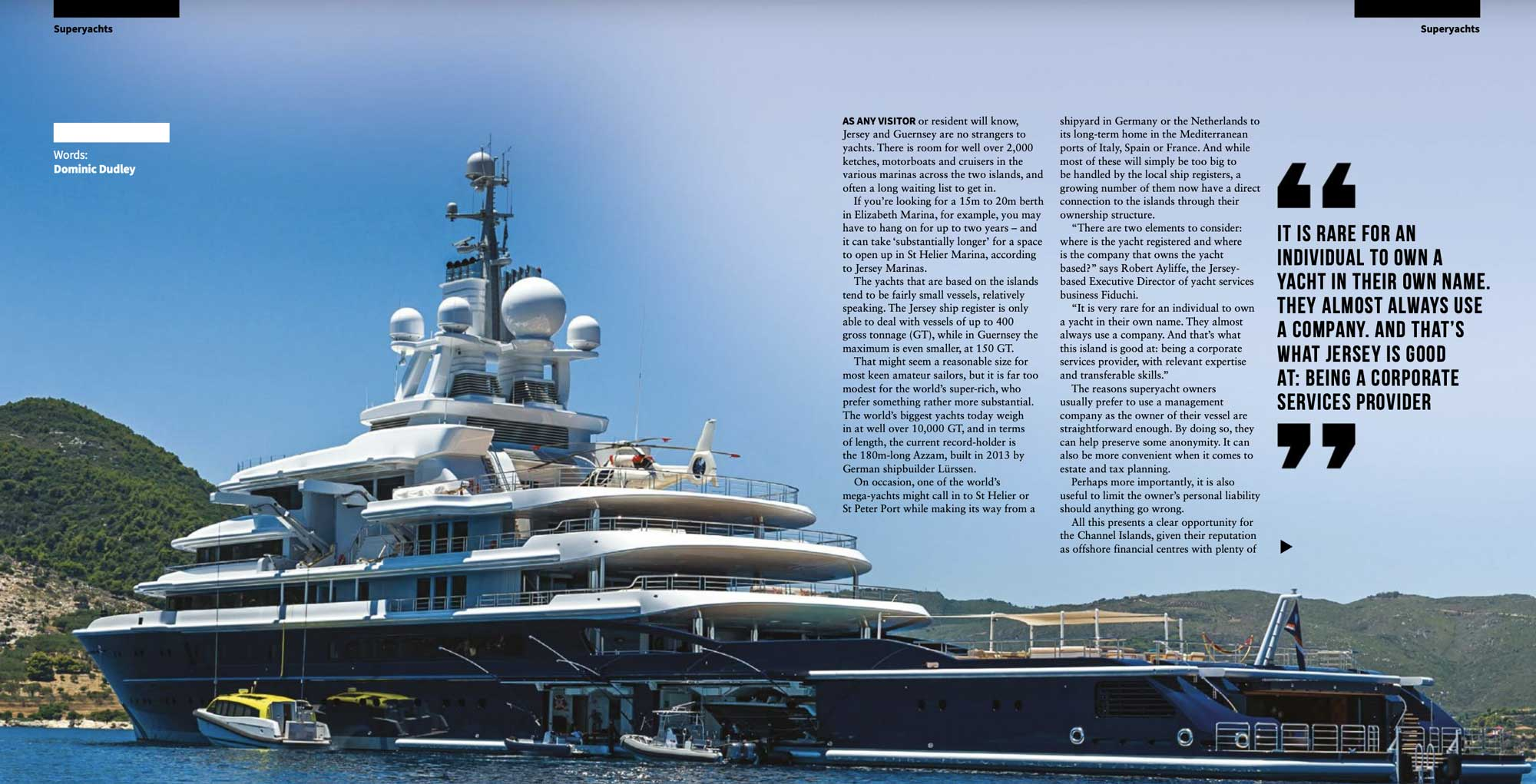 BL Magazine Feature Spread - SuperYacht Services