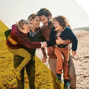 私人客戶 - 海灘上的家庭