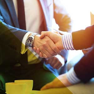 私人客戶 - 值得信賴的顧問男子握手