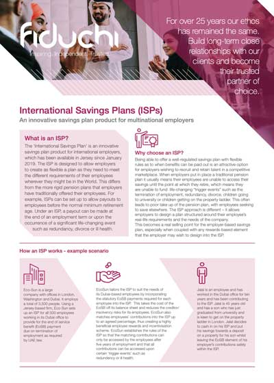 International Savings Plans (ISPs)
