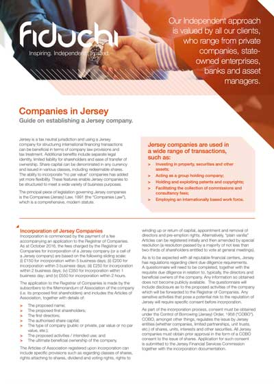 Companies in Jersey