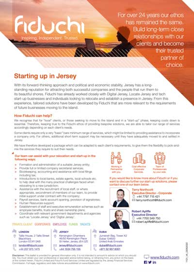 Starting up your company in Jersey
