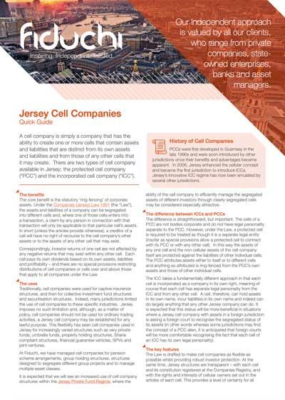 Folheto das Empresas de Células de Jersey