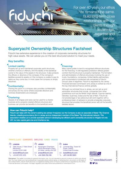 Superyacht Ownership Structures Factsheet