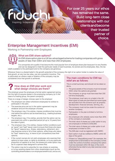 Fiduchi Enterprise Management Incentive (EMI) Leaflet