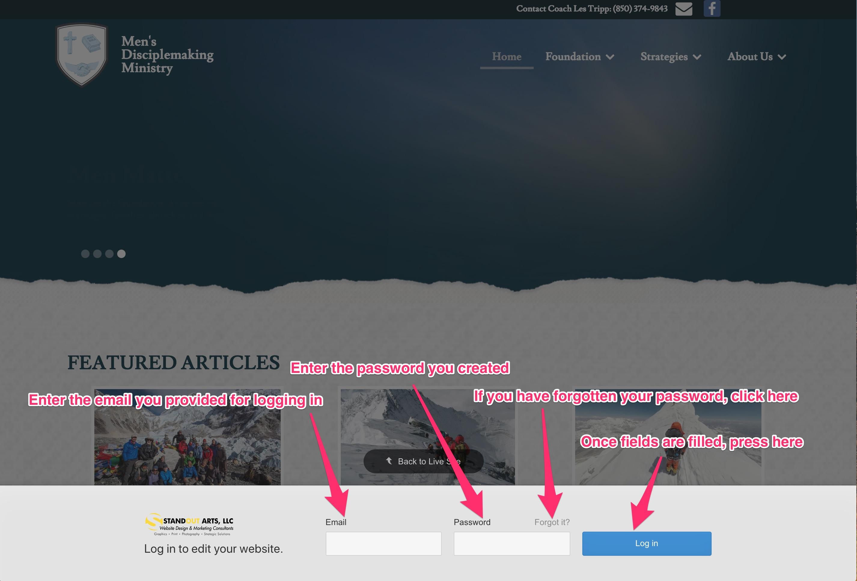 MDM editor login page