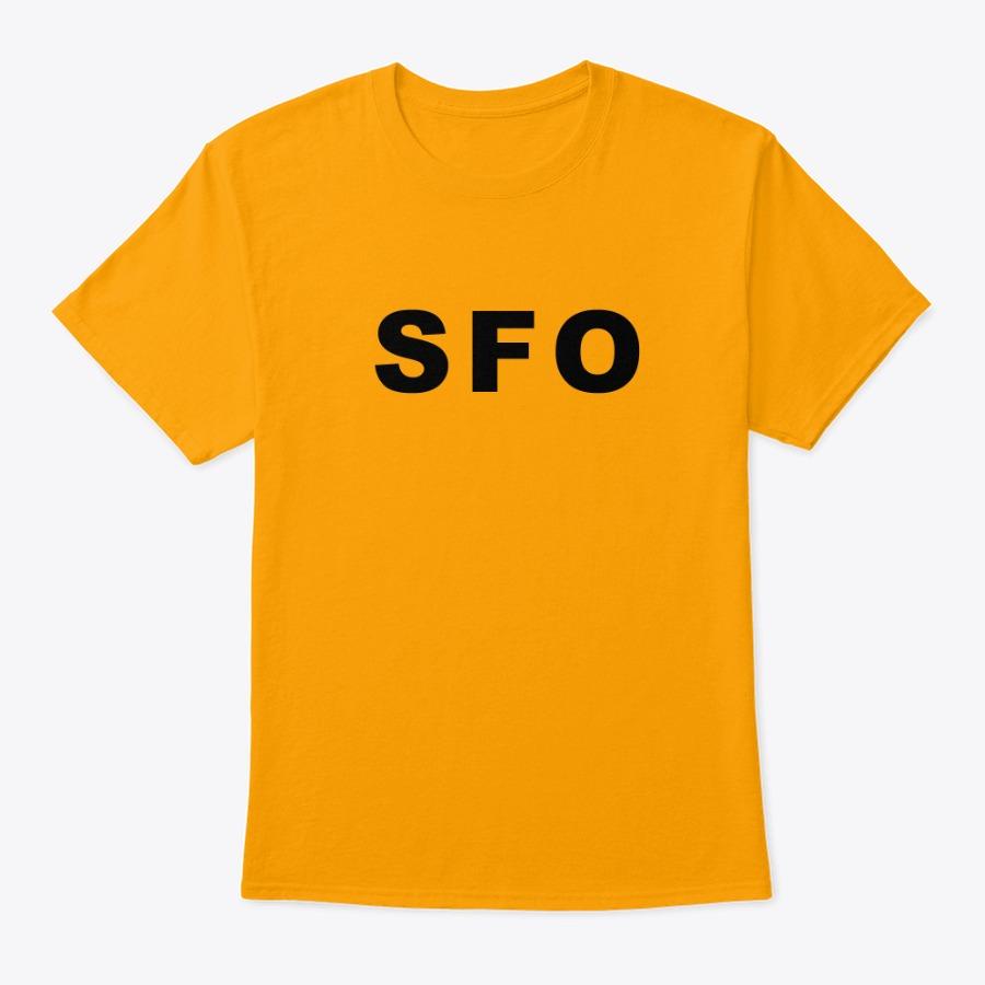 The San Francisco Airport SFO IATA code tee shirt