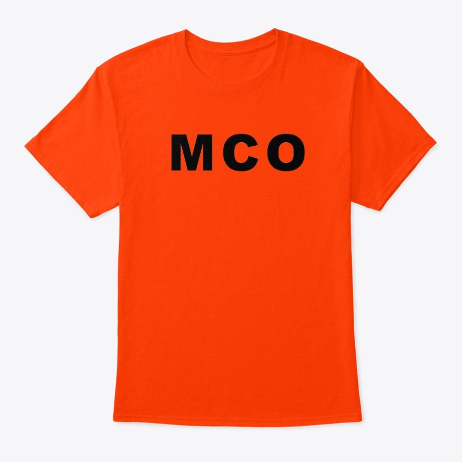 Orlando Airport Pullover tee shirt, MCO Orlando IATA tee shirt