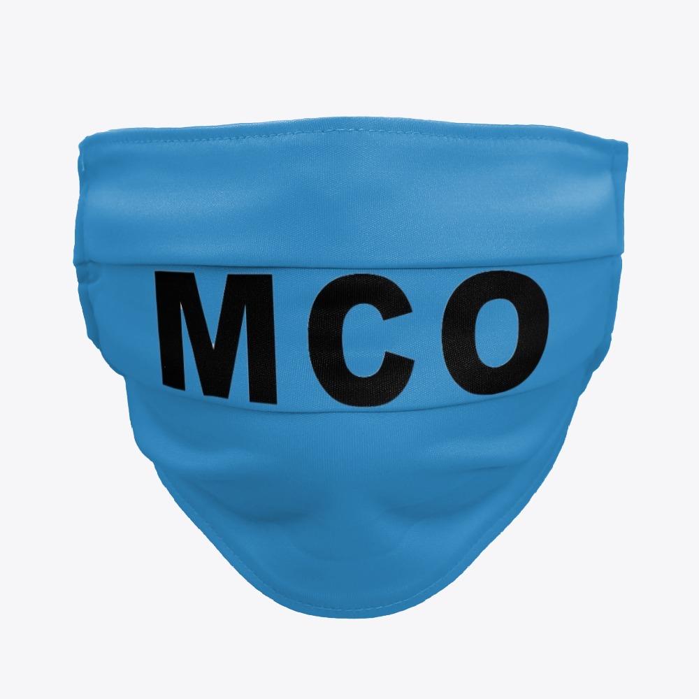 Black MCO Orlando Facemasks, White MCO Orlando Facemasks