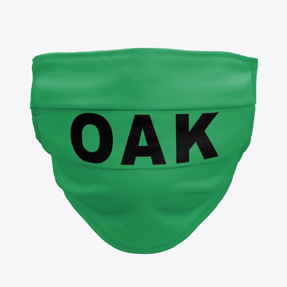 Facemask with OAK, OAK Airport facemasks