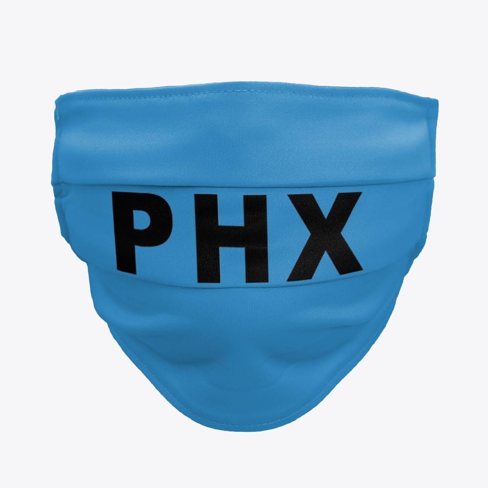 Black PHX Phoenix Sky Harbor Facemasks, White PHX Phoenix Sky Harbor Facemasks