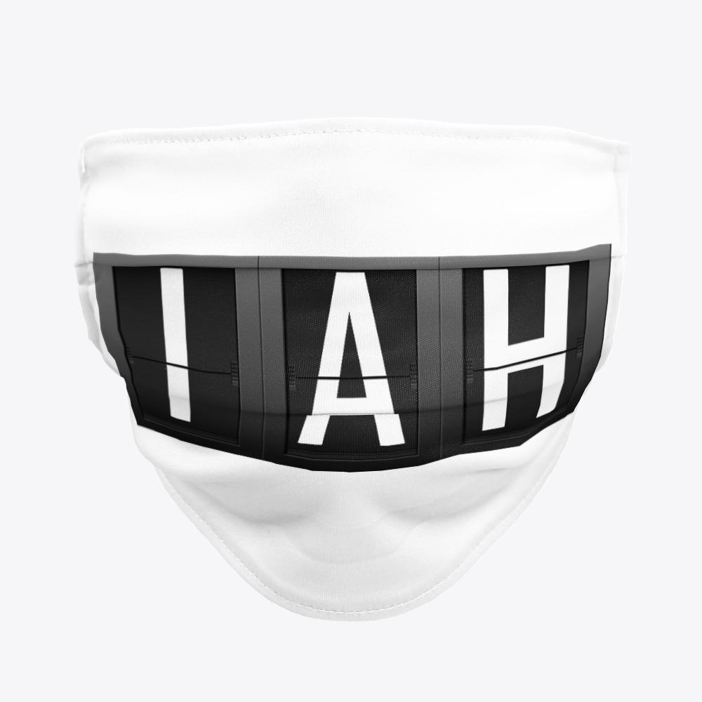 Black George Bush International airport Facemasks, White IAH Facemasks